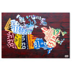 License Plate Map Usa By David Bowman - Prints And Posters - by ...