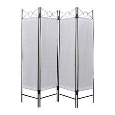 vidaxl vidaxl 4panel room divider privacy folding screen white 5u0027