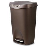 Umbra Brim 13 Gallon (50L) Trash Can With Lid, Bronze