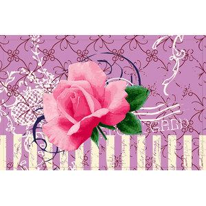 Pink Rose Gallery Door Mat, Large