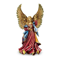Jay Strongwater Rejoicing Angel Figurine Jewel Finish