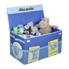 Personalized Kids Collapsible Toy Box With Flip-Top Lid, James
