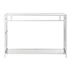 Town Square Chrome Console Table