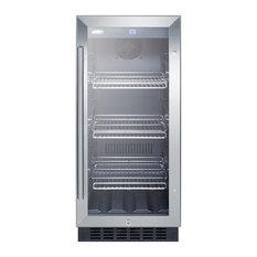 """Summit 15""""W Glass Door, Built-In Beverage Cooler SCR1536BG"""