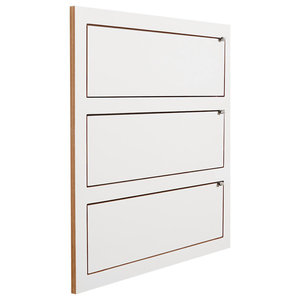 Fläpps Triple Slim Birch Plywood Shelf, White