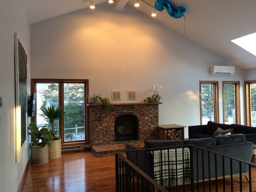 Lime Plaster Concrete Or Stucco Over Fireplace