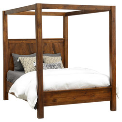 Simple Rustic Canopy Beds by Taramundi Furniture