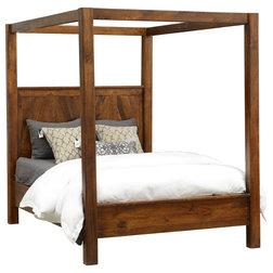 Elegant Rustic Canopy Beds by Taramundi Furniture