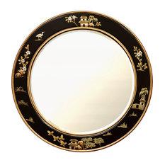 30in Chinoiserie Round Mirror