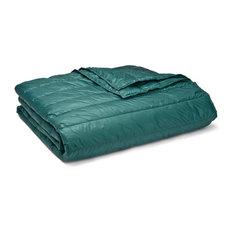 PUFF Packable Down Alternative Indoor/Outdoor Water Resistant Blanket , Peacock,