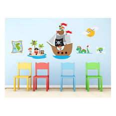 Pirates Fabric Wall Decal, Full Set