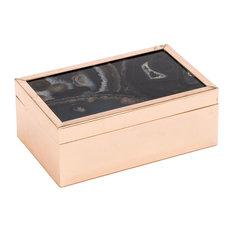 Zuo Decor Steel Box, Black