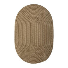 Colonial Mills, Inc - Colonial Mills Boca Raton BR13 CafT Tostado 9' x 12' Oval - Outdoor Rugs