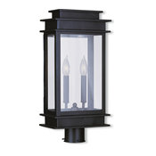 Princeton Outdoor Post Lantern - Bronze, Large, 2