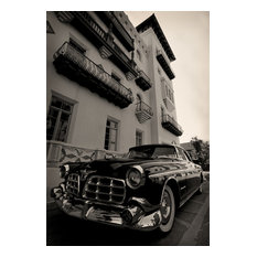 1955 Chrysler Imperial Flagger Hotel Fine Art Black and White Photography, 16x24