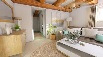 Aménagement é décoration cosy de cet appartement de 60m2