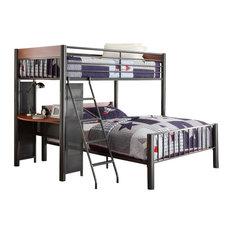 Homelegance Division Twin/Full Loft Bed, Light Graphite