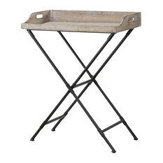 Convenience Concepts Wyoming Folding Serving Bar Table in Black