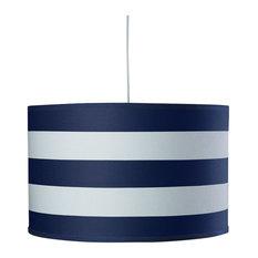 Oilo Studios   Stripe Large Cylinder, Cobalt Blue   Pendant Lighting