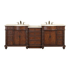 "90"" Traditional Double Bathroom Vanity"