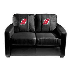 New Jersey Devils NHL Silver Love Seat