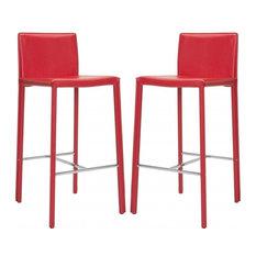 "Safavieh Jason 30"" Barstools, Set of 2, Red"