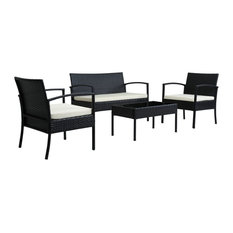 Teaset 4-Piece All-Weather Wicker Patio Seating Set