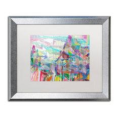 "Lauren Moss 'Illimani' Art, Silver Frame, White Matte, 20""x16"""