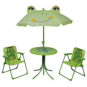 VidaXL 4-Piece Frog Design Kids' Garden Furniture Set