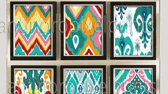 Colorful Ikat prints