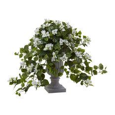 Bougainvillea Flowering Silk Plant in White