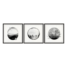 """Forest Moon Triptych, 72""""x24"""""""