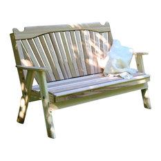 Red Cedar Classic Fanback Garden Bench, 4'