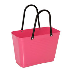 Hinza Reusable Grocery Tote Bag From Sweden, Coral Pink, Mini