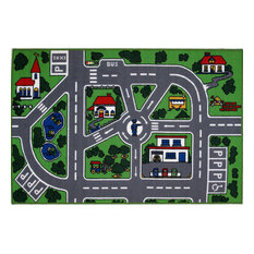 Fun Rugs Fun Time Collection Streets Area Rug, 8'x11'