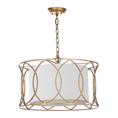 50 most popular pendant lights with a fabric shade for 2018 houzz safavieh silas pendant lamp pendant lighting aloadofball Images