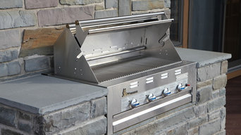 Built In Gas Grill at the New York Lake House