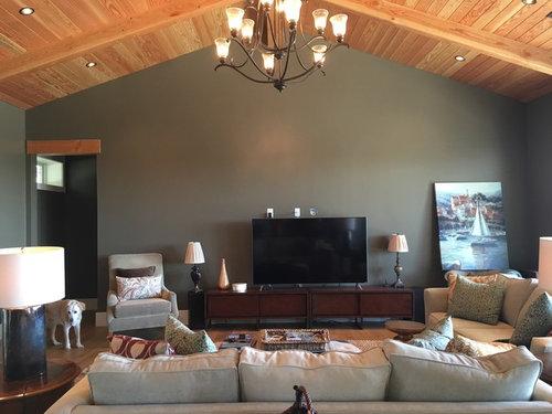 Help Decorating Around Huge Tv