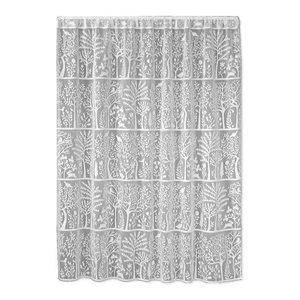 "Heritage Lace 60x63"" Rabbit Hollow Panel, White"