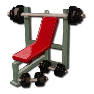 Personalizable Sports Ornament, Weight Lifter