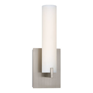 George Kovacs Tube LED Wall Sconce P5040-084-L, Brushed Nickel