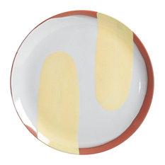 Handmade Terracotta Large Plate by Silvia K Ceramics, Yellow