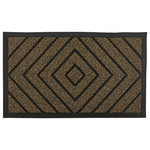 Superio - Diamond Coir Doormat, Natural - Superio doormats are made of durable, long lasting materials to ensure quality perfection. The anti-slip rubber backing prevents the mat from moving around for maximum grip. Our waterproof doormats are weather resistant which makes it perfect for indoor and outdoor use. The patterned grooves trap dirt to keep your entryway tidy and are easy to clean. The doormats are flexible for convenient storage. The mats come in a variety of stylish colors and designs to complement your decor