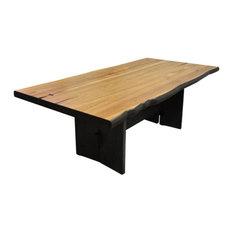 Solis Arcum Solid Live Edge Wood Rectangular Table