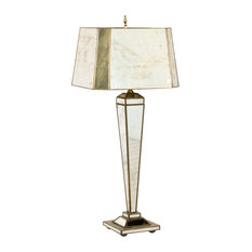 Hilton Antique-Style Mirror Lamp With Rectangle Shade