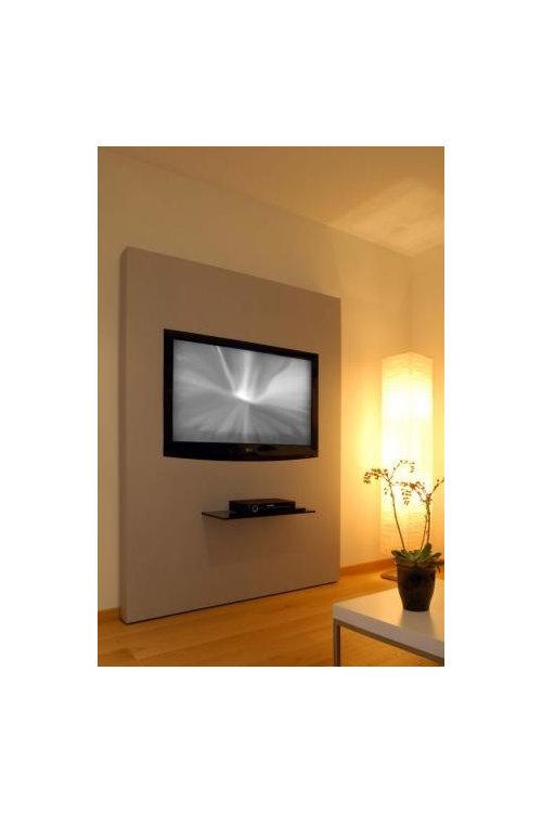 tv wand ohne bohren. Black Bedroom Furniture Sets. Home Design Ideas
