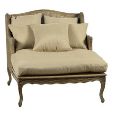 Chaise DOVETAIL MADELEINE Antiqued Cane Back