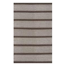 Mesa Hand-Woven Reversible Flatweave Rug, Brown, 8'x10'