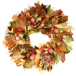 Farmhouse Wreaths And Garlands by Botanical Splash