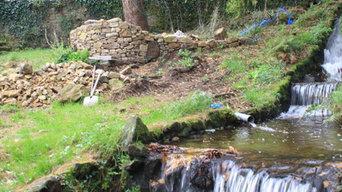 Ruisseau, source de chaleur pour chauffer l'ancien moulin